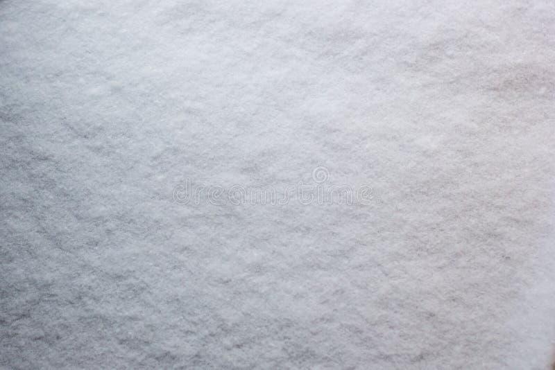 Texture de neige fraîche couvrant la terre abondamment sur le winte givré photographie stock libre de droits