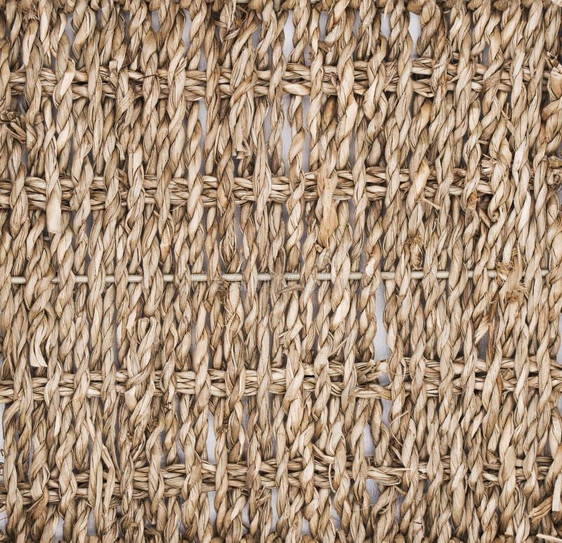 Texture de paille entrelacée, panier, arbre Biodesign Plats qui respecte l'environnement image stock