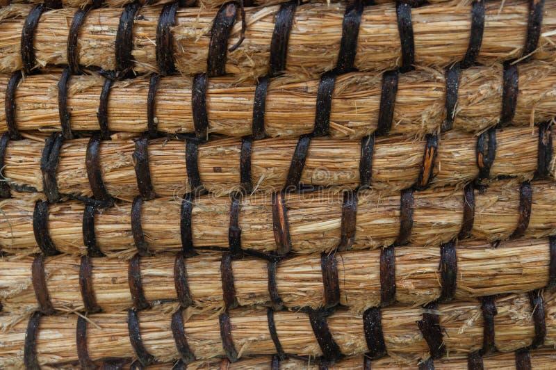 Texture de panier d'osier ou de rotin Panier pour la paille Texture sans couture à haute résolution photo libre de droits
