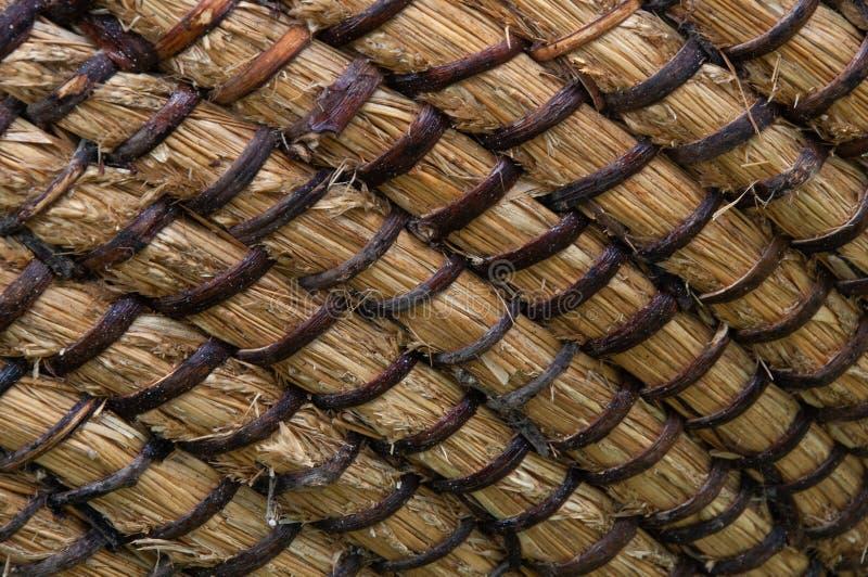 Texture de panier d'osier ou de rotin Panier pour la paille Texture sans couture à haute résolution photographie stock