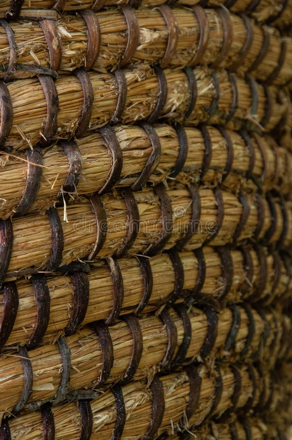 Texture de panier d'osier ou de rotin Panier pour la paille Texture sans couture à haute résolution image stock
