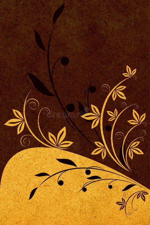 Texture de papier avec la configuration illustration stock