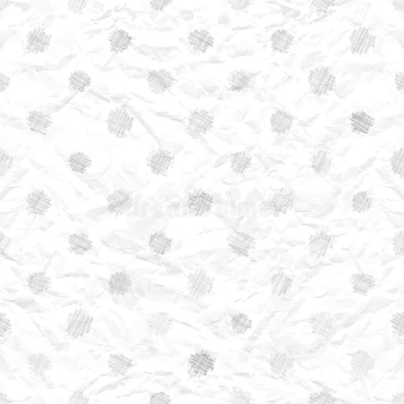 Texture de papier chiffonnée sans joint avec des points de polka illustration stock
