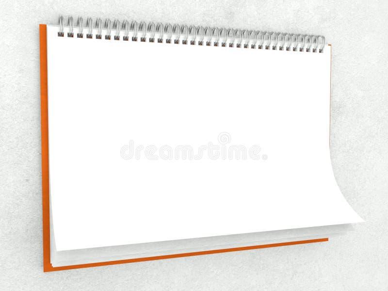 Texture de papier dans le calendrier mural blanc photo libre de droits