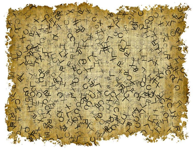 Texture de papier de vintage avec le texte sur les milieux blancs image libre de droits