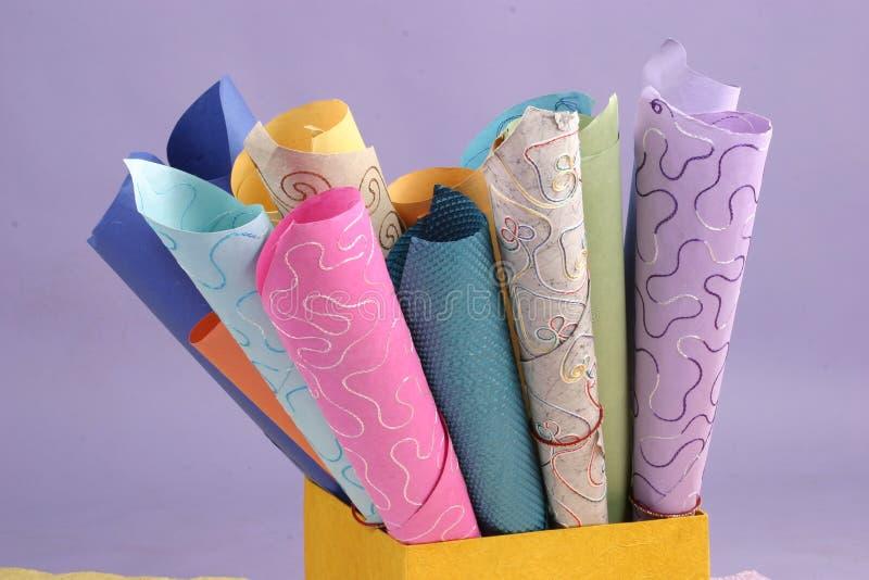 Texture de papier fabriqué à la main images stock