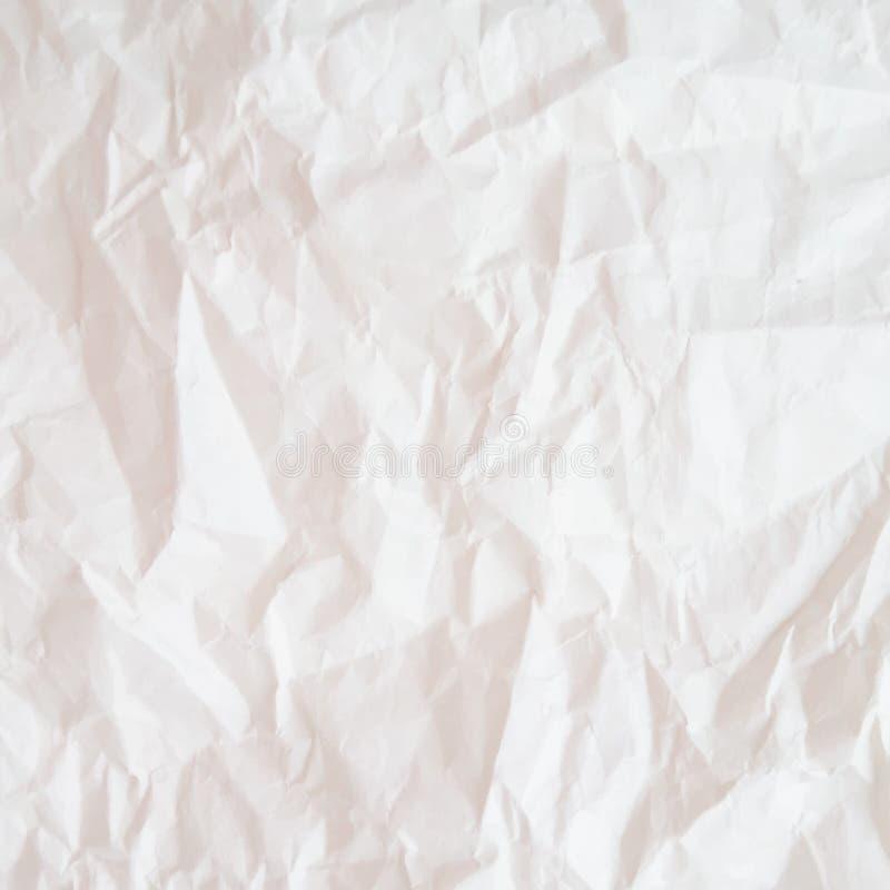 Texture (de papier) froissée Texture ou fond de papier chiffonnée par blanc illustration de vecteur