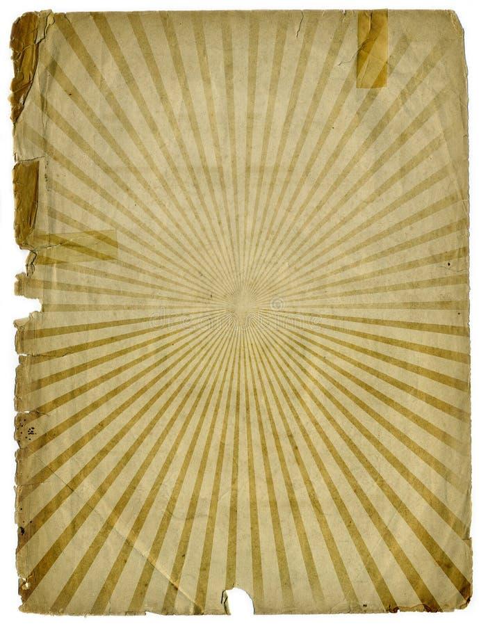 Texture de papier grunge de fond de rayon de soleil illustration libre de droits
