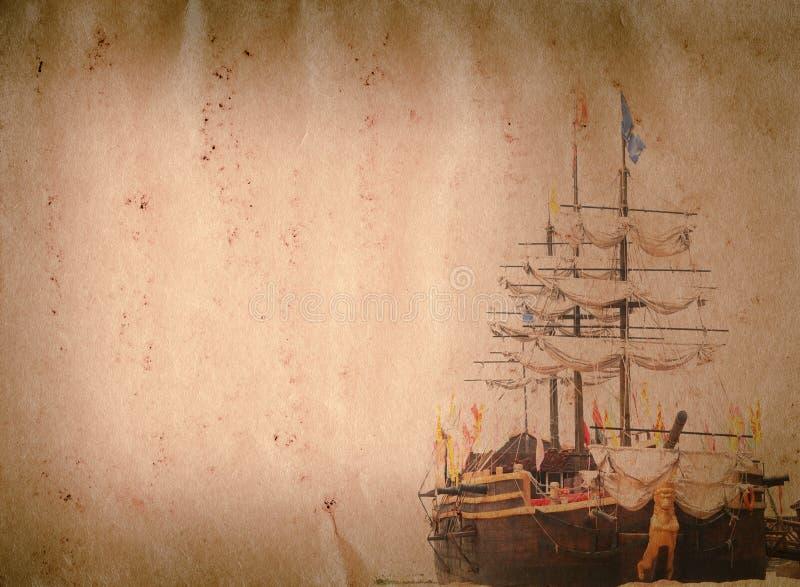 Texture de papier grunge de vieux bateau de voile