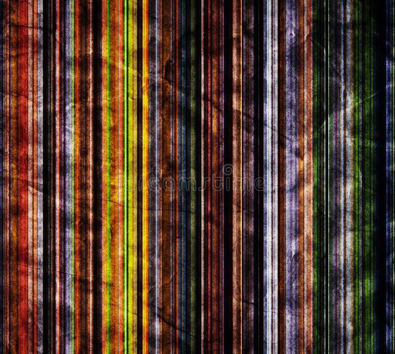 Texture de papier plissée vieux par grunge Rétro cru illustration stock