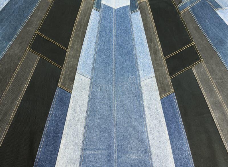 Texture de patchwork de denim de fond image libre de droits