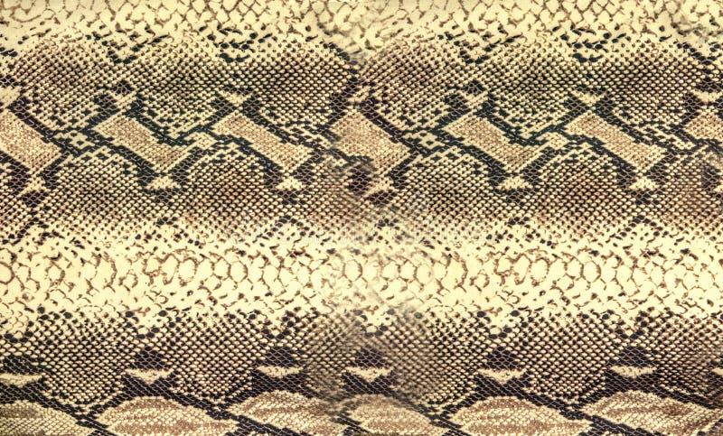 Texture de peau de serpent Fond sans couture de reptile pour la conception images stock