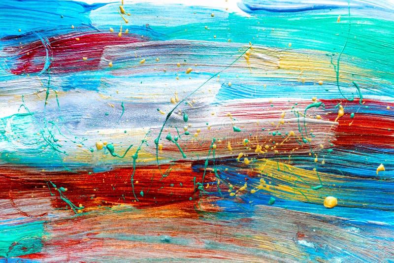 Texture de peinture à l'huile de couleur pour le fond lumineux photo libre de droits