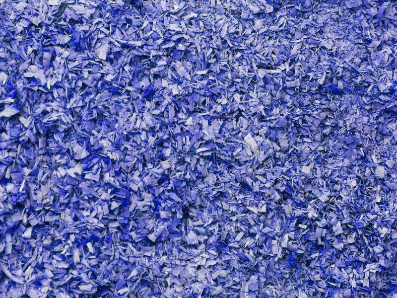 Texture de petite sciure dans la couleur bleue Objet artistique Matériel de concepteur images stock