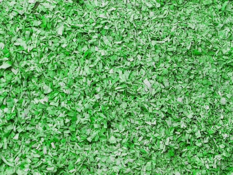 Texture de petite sciure dans la couleur verte Objet artistique Matériel de concepteur images libres de droits