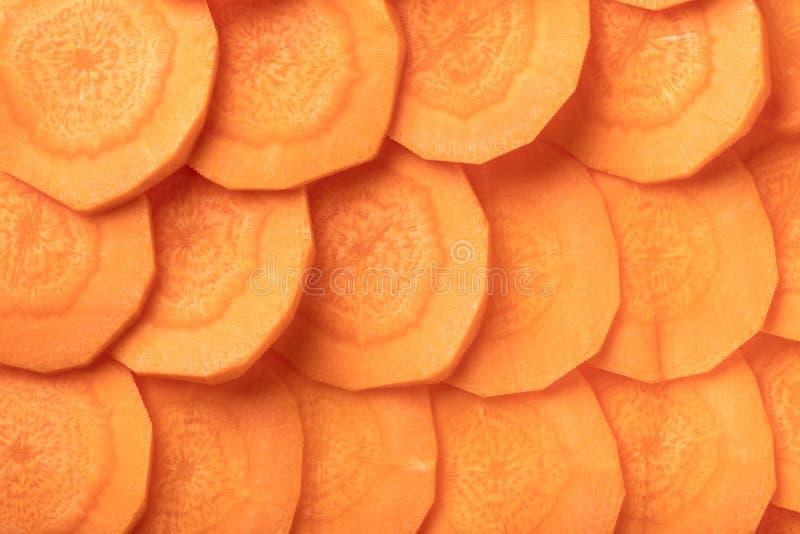 Texture de plan rapproché cru de carottes image stock