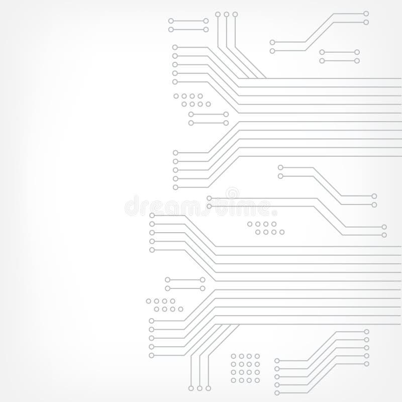 Texture de pointe de fond de technologie dans le gris Carte abstraite de technologie, fond de vecteur Conception plate illustration libre de droits