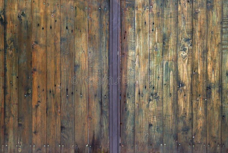 Texture de portes en bois photos stock