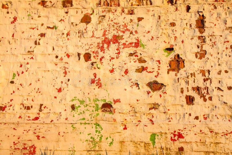 Texture de recouvrement affligée vieux par mur de briques Fond naturel grunge photographie stock
