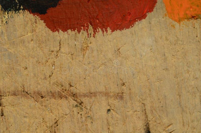 Texture de relief de bois rugueux avec des éraflures et des taches de couleur Vintage et rétro motif photo libre de droits