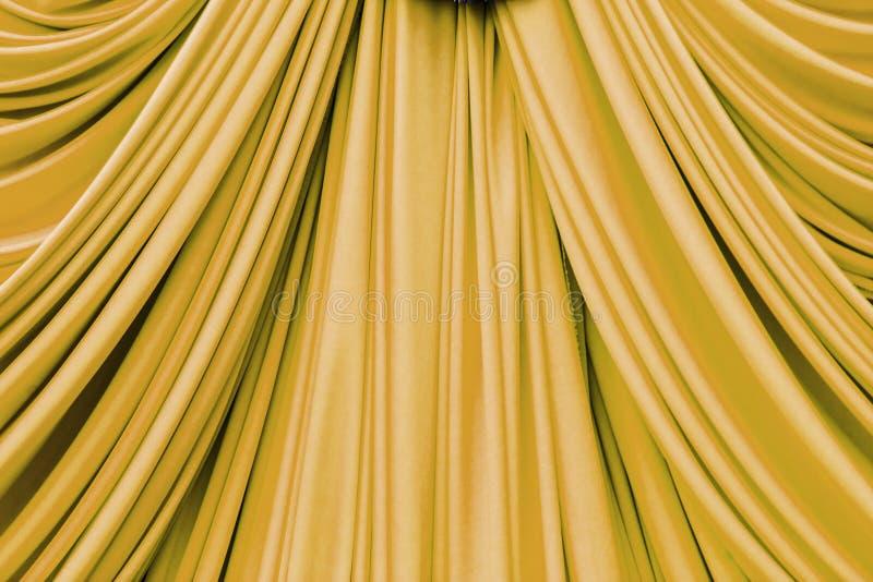 Texture de rideau en or photographie stock libre de droits