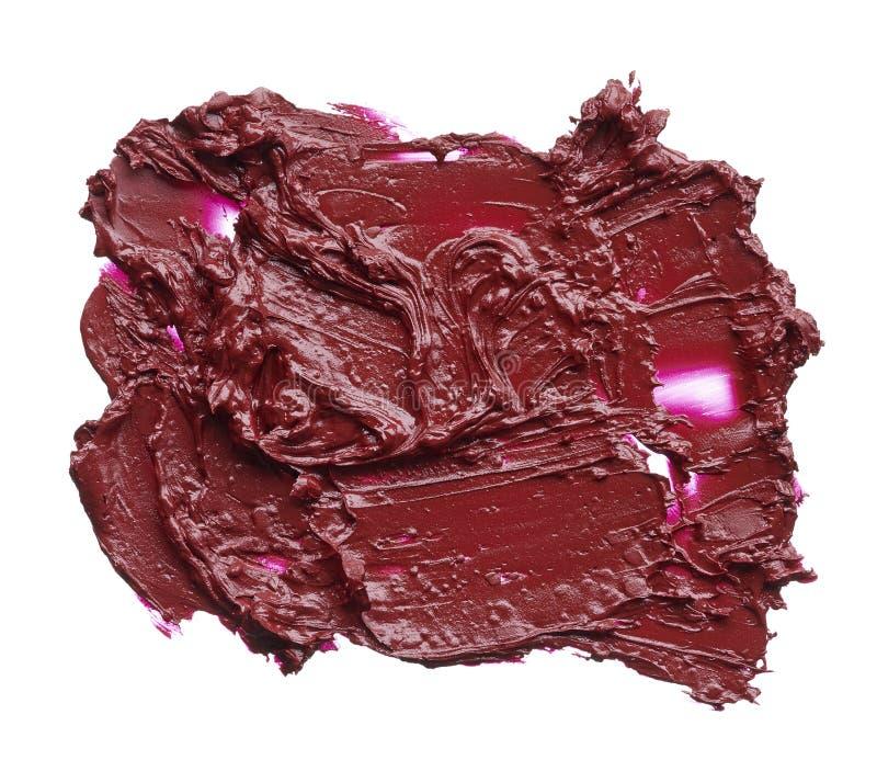 Texture de rouge à lèvres rouge cassé photographie stock
