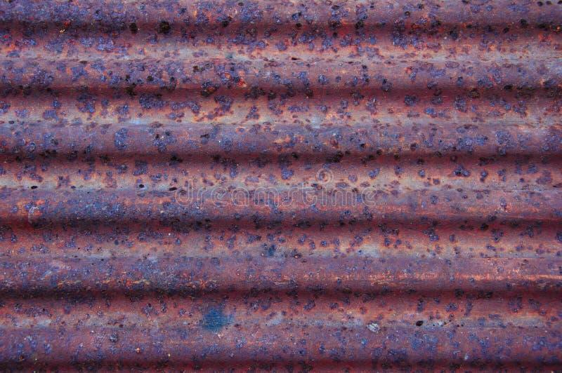 Texture de rouille de feuille de zinc images libres de droits