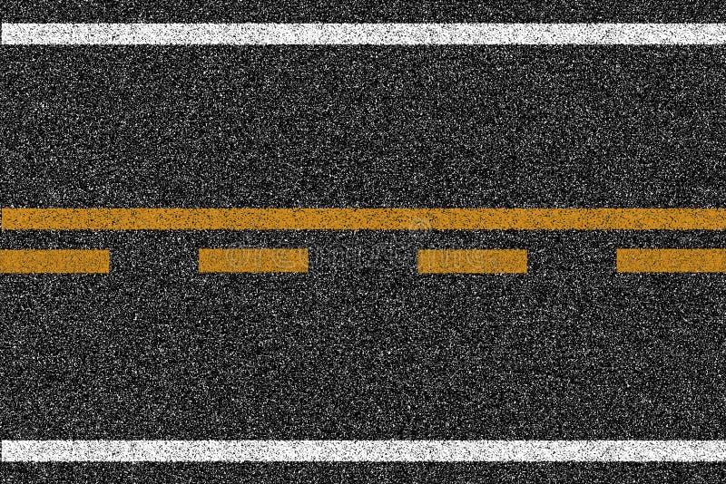Texture de route de route d'asphalte avec des inscriptions illustration libre de droits