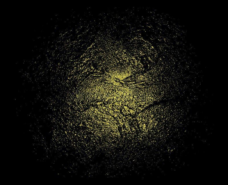 Texture de scintillement d'or sur le fond noir Or de liquide de vecteur texture abstraite D'or-grenue sur un fond noir illustration libre de droits