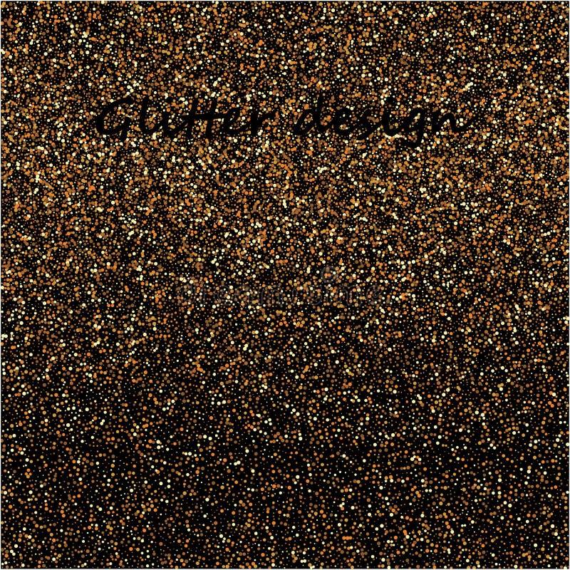 Texture de scintillement d'or sur un fond noir Explosion d'or des confettis Texture abstraite grenue d'or sur un noir photo libre de droits