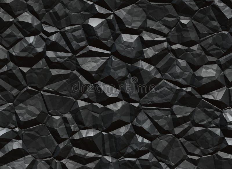 Texture de solide de charbon. minerai d'exploitation  illustration libre de droits