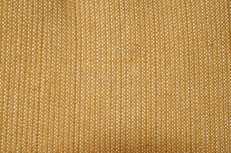 Texture De Tapisserie D'Ameublement Jaune De Tissu Image Stock