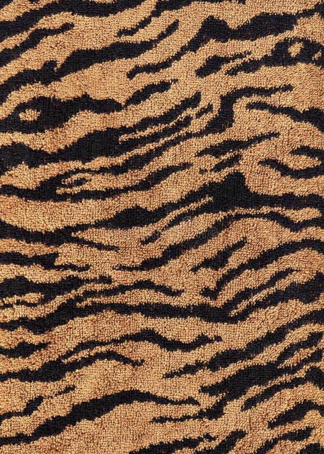 Texture de textile de tissu de tigre de QG image stock