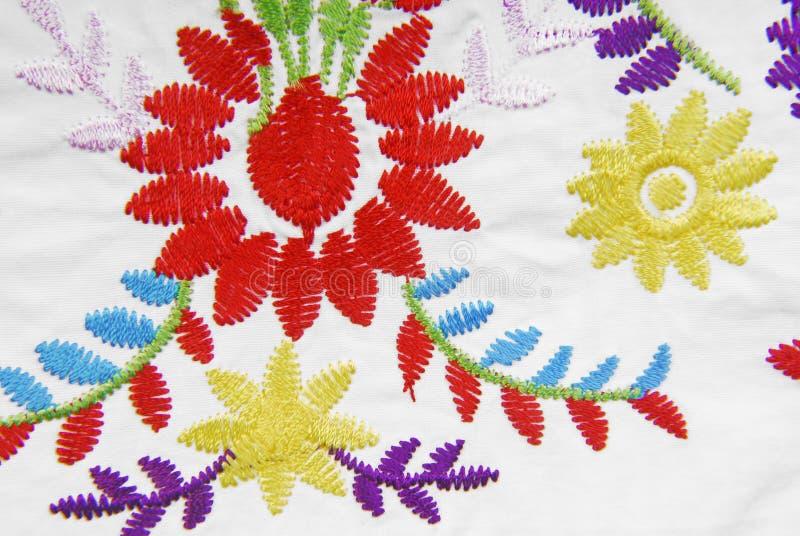 Texture de tissu brodé photo stock