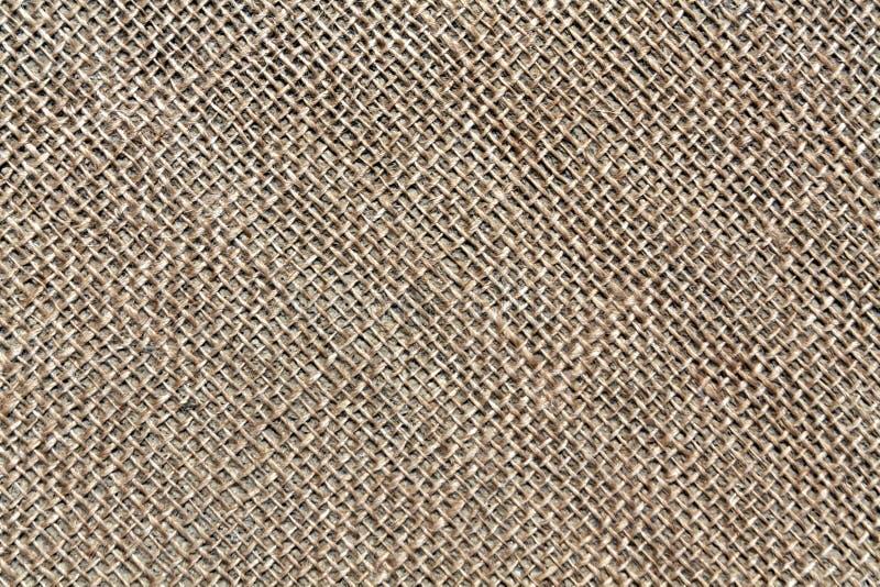 Texture de tissu de sac à Brown images libres de droits