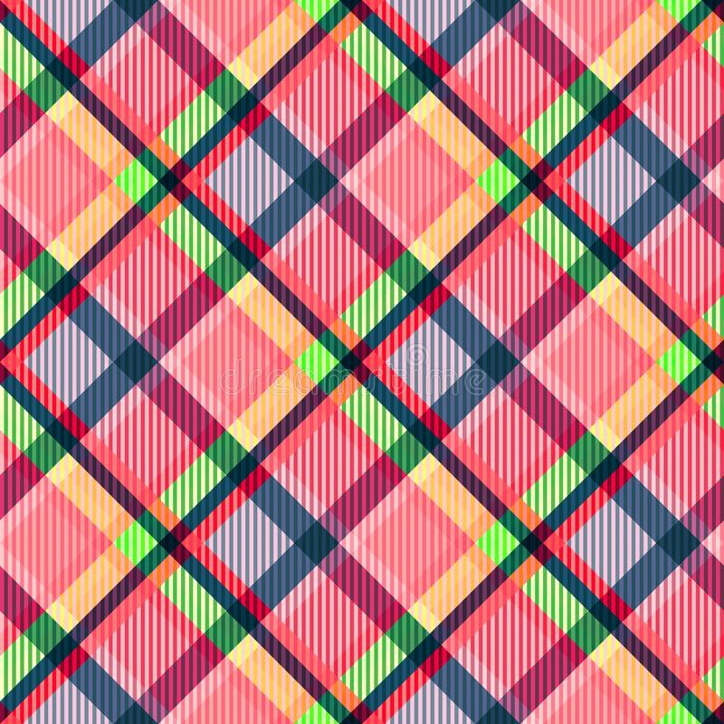 Texture de tissu de tartan Configuration sans joint illustration stock