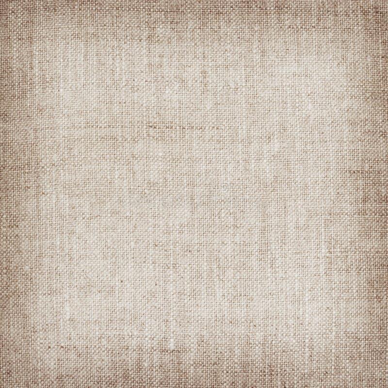Texture de toile naturelle de Brown pour le fond image libre de droits