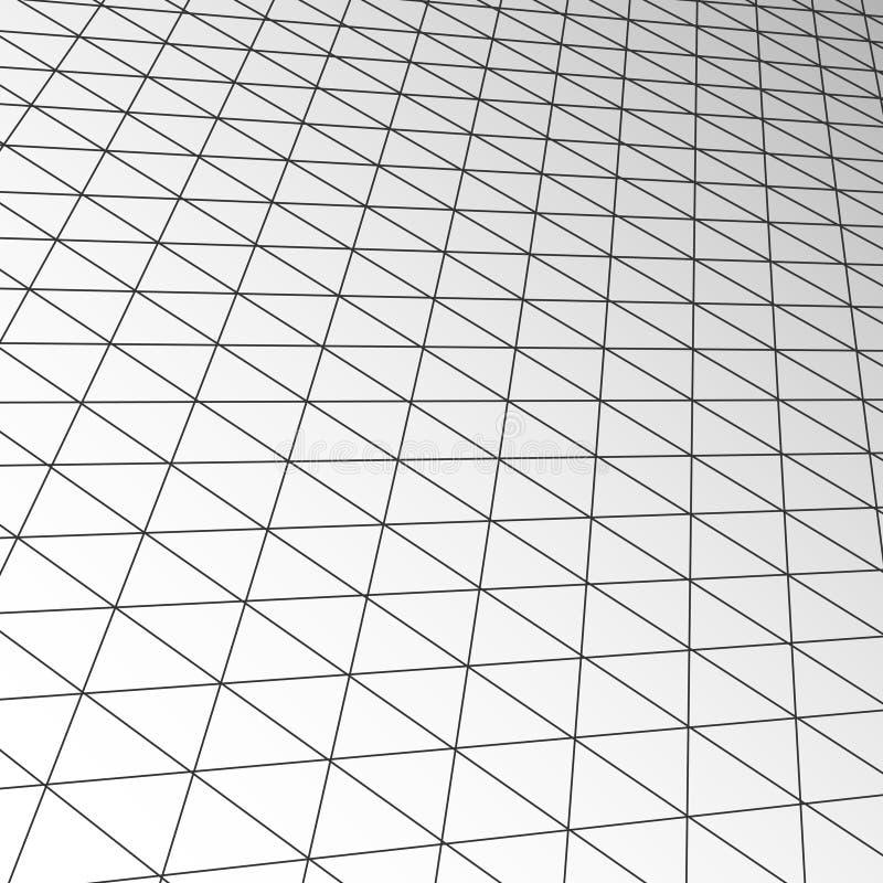 Texture de tuile de plafond d'expansion, intérieur futuriste d'affaires modernes de technologie de vecteur illustration stock