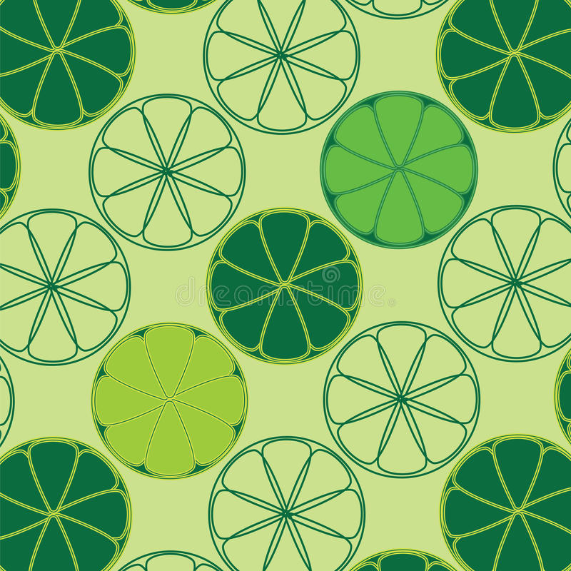 Texture de vecteur avec des chaux et des citrons illustration stock