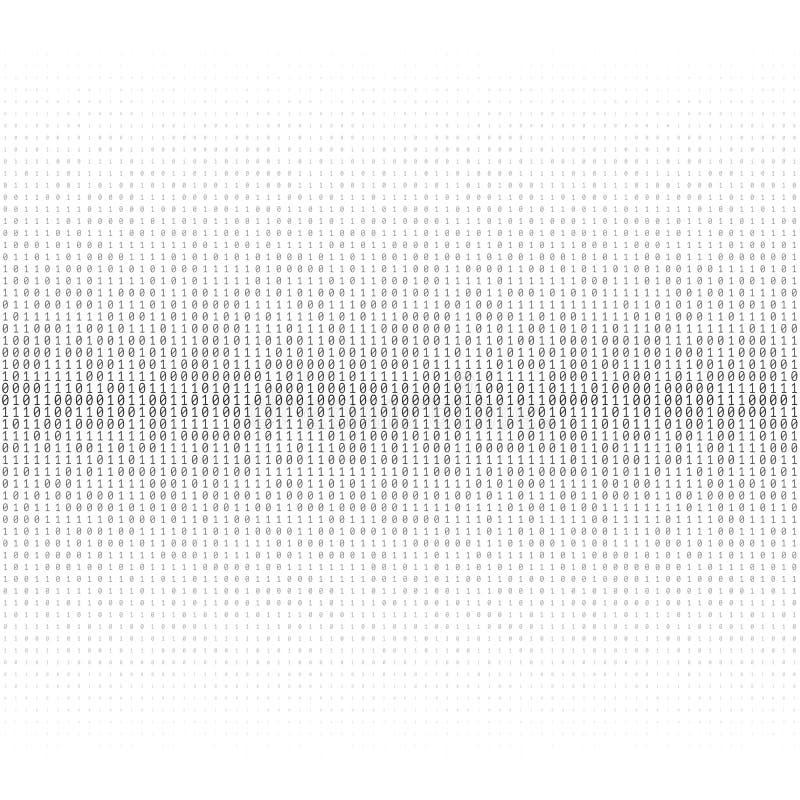 Texture de vecteur de code binaire illustration stock
