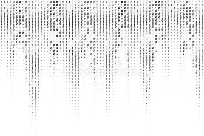 Texture de vecteur de code binaire illustration libre de droits