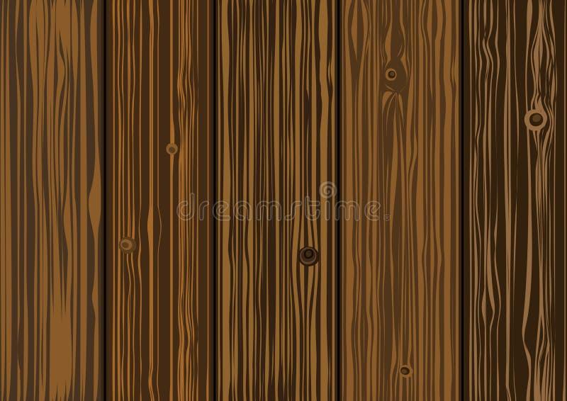 Texture de vecteur - vieux panneaux en bois illustration stock