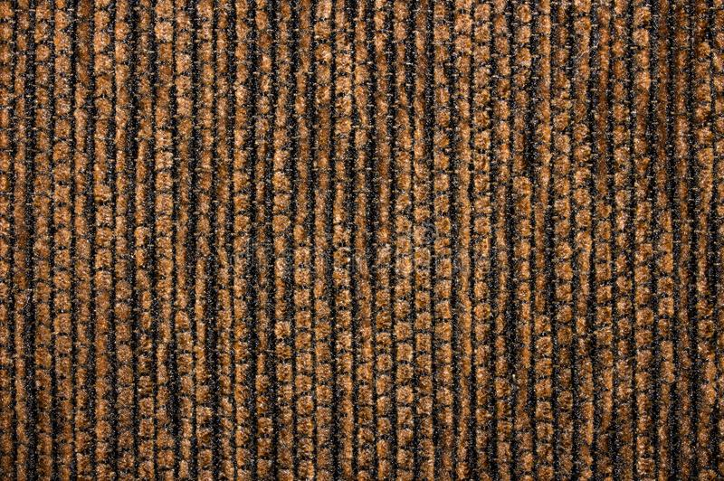 Texture de velours côtelé de tissu texturisé brun foncé photo libre de droits