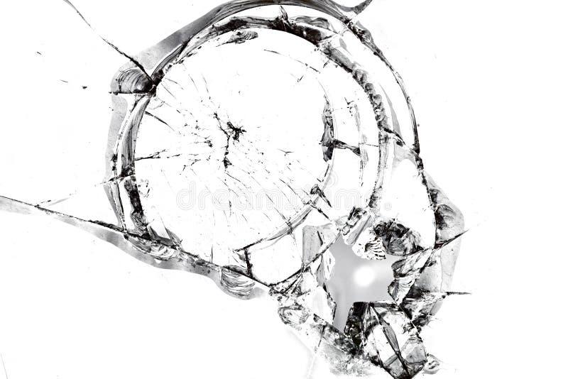 Texture de verre cassé images libres de droits