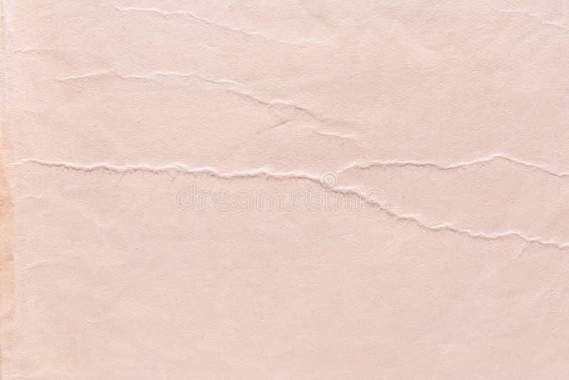 Texture de vieux papier minable et chiffonné, style de vintage, fond abstrait image libre de droits