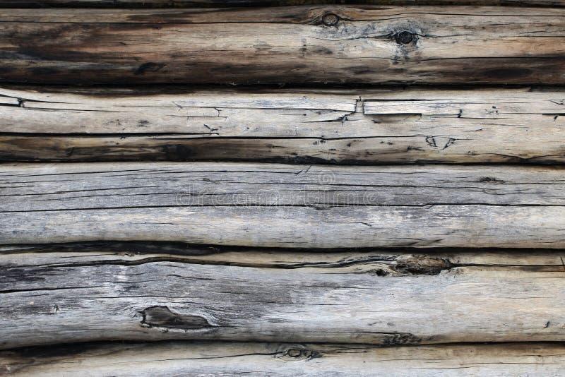 Texture de vieux rondins Couleurs fanées photos libres de droits