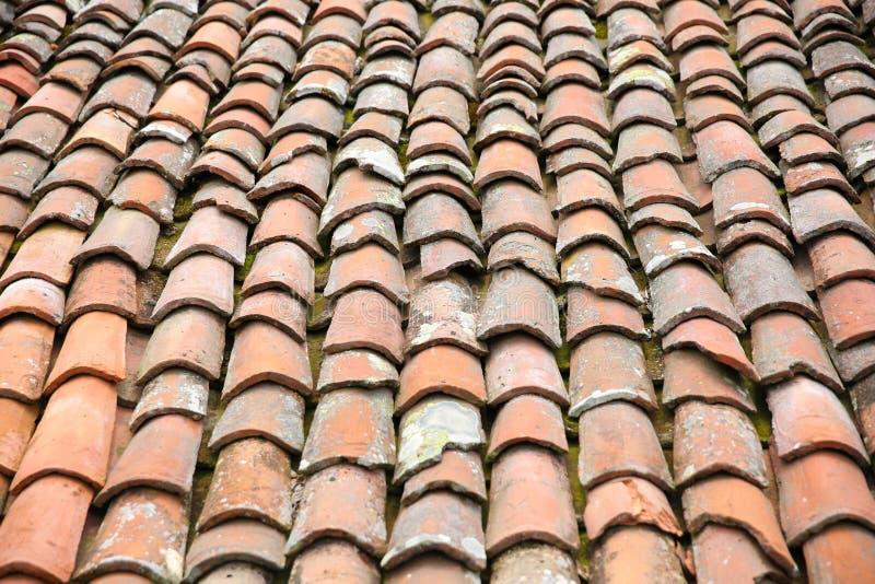 Texture de vieux toit de tuile image libre de droits