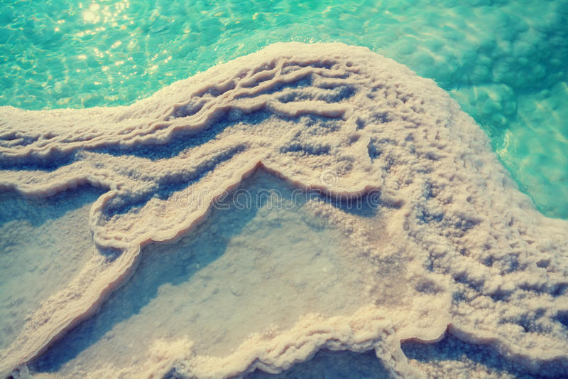 Texture of Dead sea royalty free stock photos
