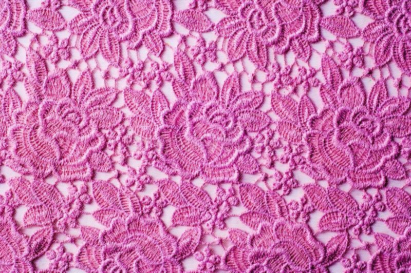texture, dentelle de rose de tissu de fond image stock