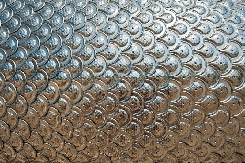 Texture des échelles argentées de dragon photographie stock